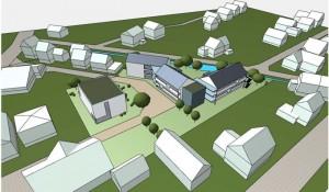 Visualisierung Wohnhofprojekt